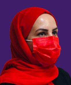 ماسک بهداشتی قرمز